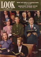 Look Magazine, May 4, 1943 - People singing in church