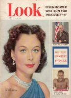 Look Magazine, June 5, 1951 - beautiful photo, her eyes match her jewelry and dress