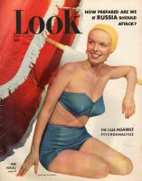 Look Magazine, June 20, 1950 - Liz Hastings in a two piece swimming suit