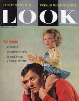 Look Magazine, August 5, 1958 - Pat Boone and his daughter Deborah