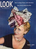 Look Magazine, November 14, 1944 - Very fancy hat by Lilly Dache