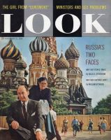 Look Magazine, November 25, 1958 - Adlai Stevenson in front of St. Basil's Cathedral in Moscow