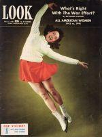 Look Magazine, December 15, 1942 - Ice Skater in mid-leap, Carol Lynne