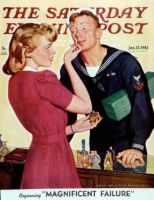 Saturday Evening Post, January 17, 1942 - Sailor Sniffing Perfume