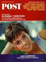 Saturday Evening Post,  January 29, 1966 - Julie Andrews