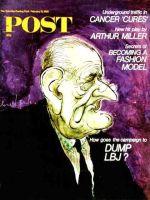 Saturday Evening Post, February 10, 1968 - Caricature of LBJ