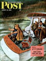 Saturday Evening Post, August 31, 1946 - Deep Sea Fishing in Rain
