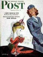 Saturday Evening Post, September 26, 1942 - WAC Admires Hat