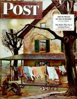Saturday Evening Post, April 7, 1945 - Hanging Clothes Out to Dry