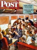 Saturday Evening Post,  March 15, 1947 - Commuter Card Game