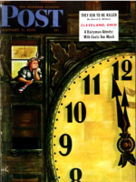 Saturday Evening Post, January 1, 1949 - Giant Clock on New Year's Eve