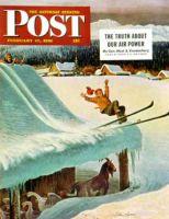Saturday Evening Post, February 17, 1951 - Barn Skiing