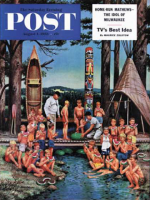 Saturday Evening Post, August 1, 1953 - Watermelon at Camp