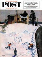 Saturday Evening Post, January 10, 1953 - Snow Angels