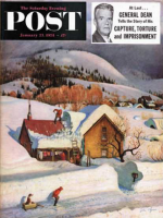 Saturday Evening Post, January 23, 1954 - Deep Snow Fall