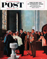 Saturday Evening Post, March 13, 1954 - Christening or Baptism