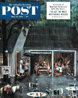 Saturday Evening Post, May 22, 1954 - Rain-out Birthday Party