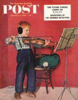 Saturday Evening Post, February 5, 1955 - Violin Practice