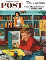 Saturday Evening Post, February 25, 1956 - Frog in the Library