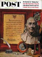 Saturday Evening Post, January 19, 1957 - Ben Franklin Quote