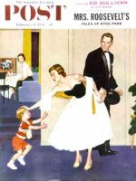 Saturday Evening Post, February 15, 1958 - Formal Hug