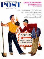 Saturday Evening Post, March 8, 1958 - Cigarette Lighter?