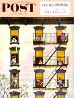 Saturday Evening Post, April 19, 1958 - Apartment Clarinetist