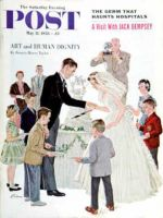 Saturday Evening Post, May 17, 1958 - Cutting the Cake
