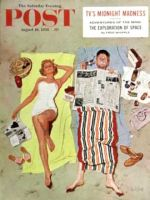 Saturday Evening Post, August 16, 1958 - Sunscreen?