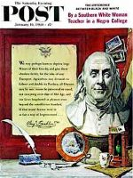 Saturday Evening Post, January 16, 1960 - Benjamin Franklin - bust and quote