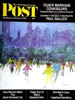 Saturday Evening Post, January 5 - 12, 1963 -  Ice Skating in Central Park