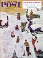 Saturday Evening Post, January 28, 1961 - Sledding and Digging Out