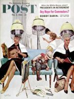 Saturday Evening Post, May 6, 1961 - Cowboy Asleep in Beauty Salon