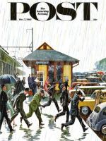 Saturday Evening Post, October 7, 1961 - Commuters in the Rain