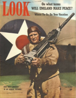 Look Magazine, June 17, 1941 - U.S. Army Air Corps man carrying really big gun