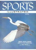Sports Illustrated, February 20, 1956 - White Heron, fishing