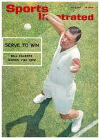 Sports Illustrated, July 5, 1965 - Bill Talbert tennis lesson - Serve to Win