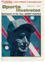 Sports Illustrated, December 20, 1965 - Sandy Koufax, Los Angeles Dodgers