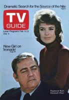 TV Guide, February 5, 1972 - Raymond Burr, Elizabeth Baur