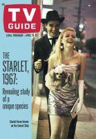 TV Guide, April 15, 1967 - Starlet Karen Jensen on the Sunset Strip