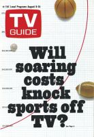 TV Guide, August 9, 1969 - Will soaring costs knock sports off TV?