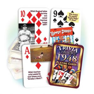 1948 Trivia Challenge Playing Cards: 71st Birthday or Anniversary Gift