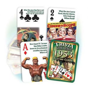 1953 Trivia Challenge Playing Cards: 66th Birthday or Anniversary Gift