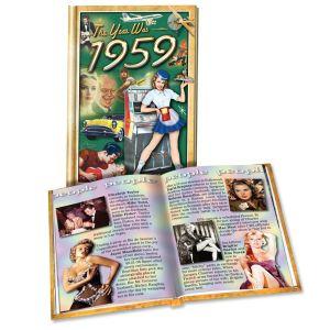 1959 MiniBook: 60th Birthday or Anniversary Gift