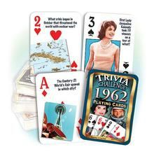 1962 Trivia Challenge Playing Cards: Great 57th Birthday or Anniversary Gift