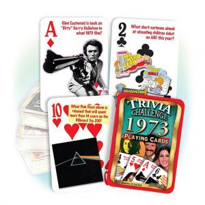 1973 Trivia Challenge Playing Cards: 48th Birthday or Anniversary Gift