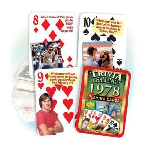1978 Trivia Challenge Playing Cards: 41st Birthday or Anniversary Gift