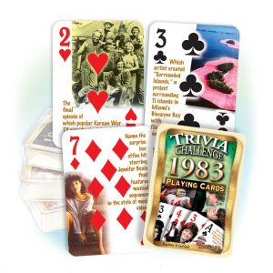 1983 Trivia Challenge Playing Cards: 36th Birthday or Anniversary Gift